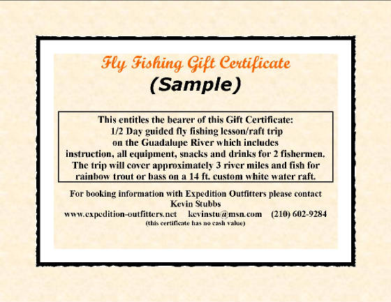 The best gift for the outdoorsman is a fly fishing gift certificate